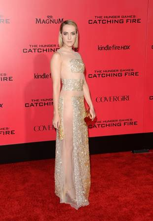 Hunger Games Star Jena Malone Goes Commando in See-Through Dress at L.A. Premiere (PHOTO)