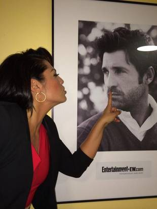Sara Ramirez Puckers Up With Patrick Dempsey (PHOTO)