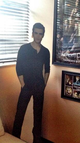 Paul Wesley Offers Fans a Sneak Peek Into Daniel Gillies's Dressing Room! (PHOTO)