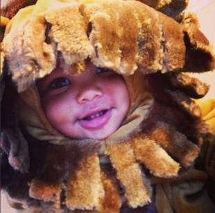Amber Rose and Wiz Khalifa Share Baby Bash's First Halloween — Cute Pic!