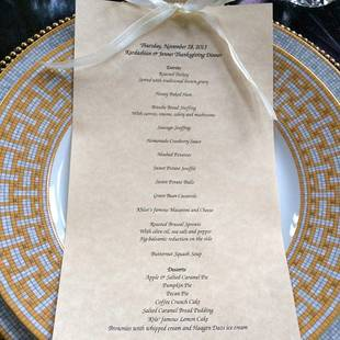 Kris Jenner Shares Elaborate Thanksgiving Dinner Menu (PHOTO)
