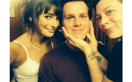"Lea Michele's Magazine Cover Shoot — With Her ""Favorite Person"" Jonathan Groff!"