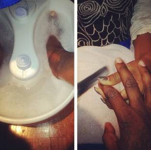 Lil Scrappy Treats Himself to a Manicure and Pedicure