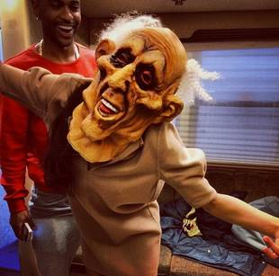 Naya Rivera, Fiance Big Sean Scare THIS Glee Star on Halloween (PHOTO)