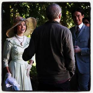 Ravenswood Midseason Finale: Original Caleb and Miranda Get Close in Behind-the-Scenes Photo!