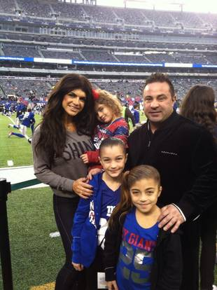 Teresa and Joe Giudice Take Their Kids to the Giants Game
