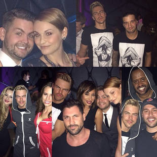 Why Did Maks Chmerkovskiy and Derek Hough Hang Out With Justin Bieber's Manager? (PHOTO)