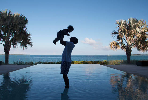 Beyoncé Shares Sweet Photo of Blue Ivy and Jay Z