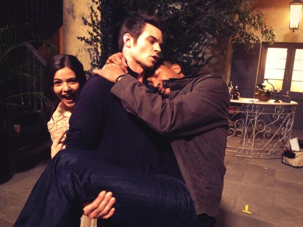 Daniel Gillies Cradles Sleepy Charles Michael Davis — Most Adorable Photo Ever?
