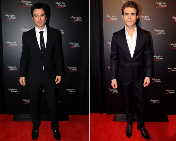 Ian Somerhalder vs. Paul Wesley: Which Vampire Diaries Star Was Hotter at the 100th Episode Party? (PHOTOS)