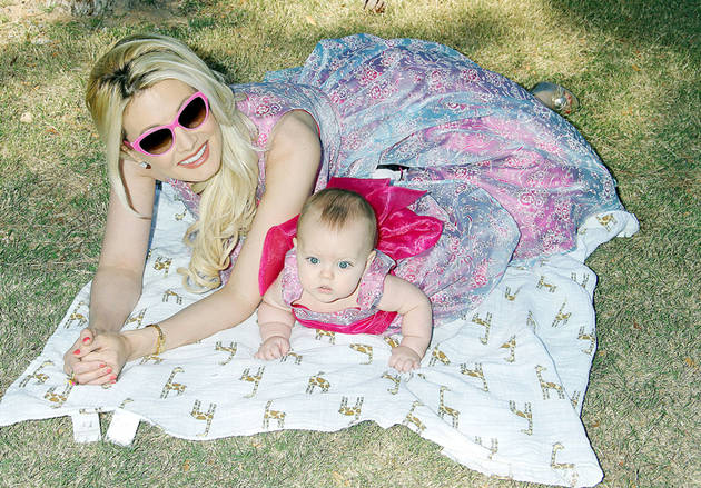 Holly Madison and Baby Rainbow: Matching Princess Gowns!