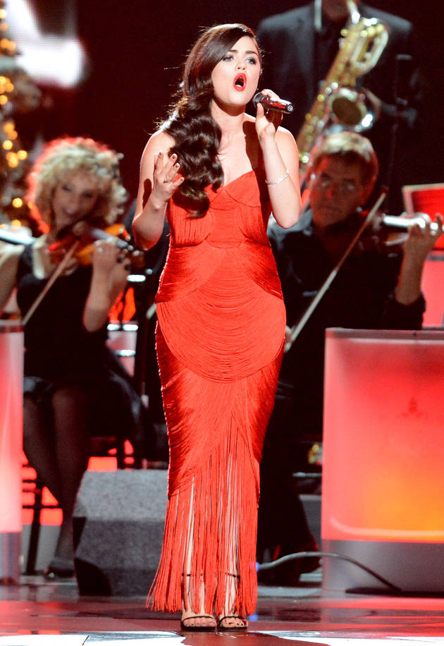 "Lucy Hale Performs ""Christmas (Baby Please Come Home)"" at CMA Country Christmas (VIDEO)"