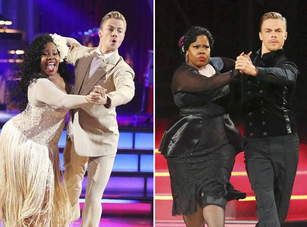 Amber Riley's Thanksgiving: Dance Battle with Derek Hough!