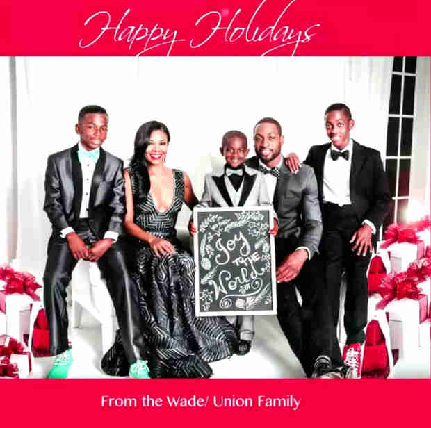 Gabrielle Union and Dwayne Wade's Holiday Photoshoot — Adorable Behind-the-Scenes Look! (VIDEO)