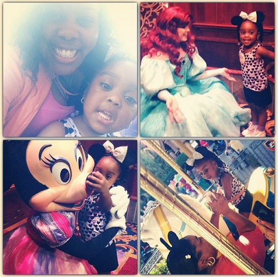 Amber Riley and Her Cute Niece Visit Disneyland (PHOTOS)
