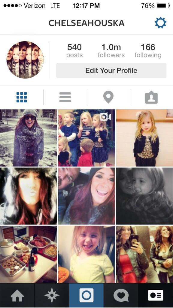 Chelsea Houska Reaches 1 Million Instagram Followers!