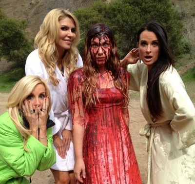 The Hungover Games Trailer — Brandi Glanville, Kyle Richards, and Camille Grammer Get Burned By Carrie! (VIDEO)