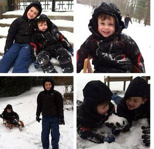 Adorable Alert: Jacqueline Laurita's Boys Play in the Snow (PHOTO)