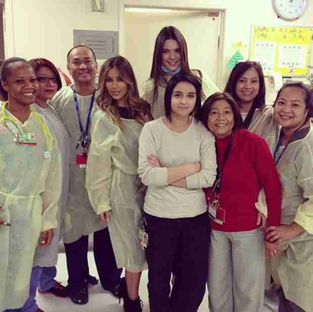 Kim Kardashian and Kendall Jenner: Christmas Eve Hospital Visit (PHOTOS)