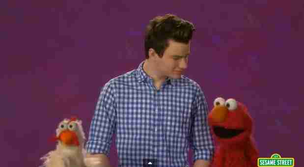 Watch: Glee Star's Sesame Street Anti-Bullying Video — With Elmo and a Chicken!