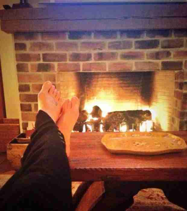 Lea Michele Shows Off Foot Tattoo While Relaxing for the Holidays