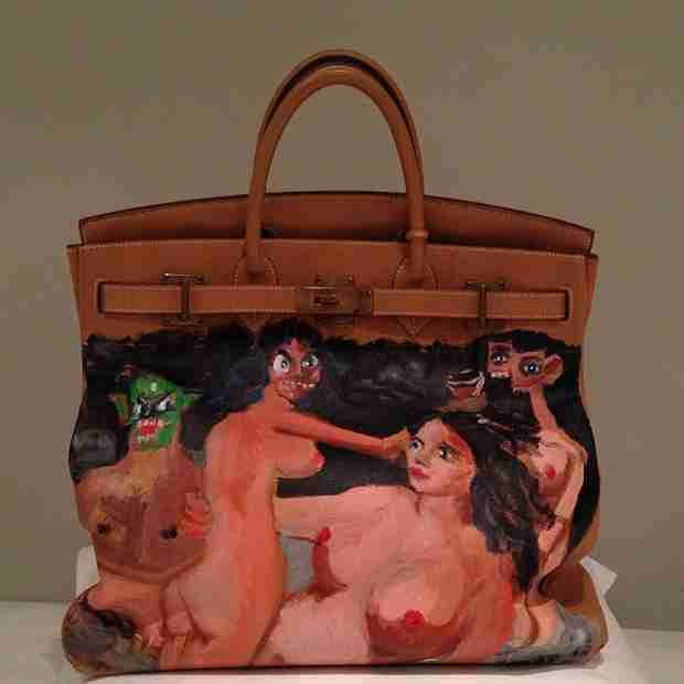 Kanye West's Christmas Gift to Kim Kardashian: Birkin Bag With Million Dollar Nude Painting! (PHOTO)