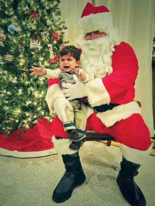 Snooki's Son Lorenzo Visits Santa Claus: See His Reaction! (PHOTO)