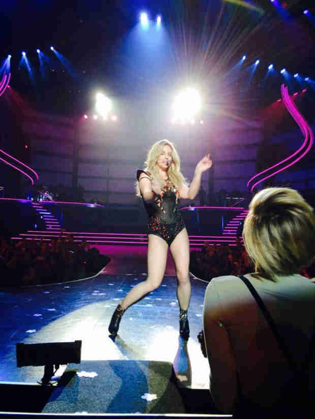 Miley Cyrus Dances at Britney Spears Las Vegas Opening Night (PHOTOS)