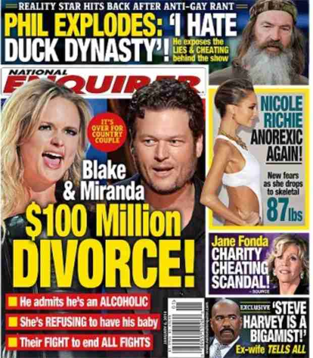 Blake Shelton and Miranda Lambert Mock $100 Million Divorce Rumor
