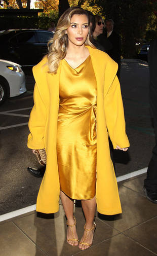 Kim Kardashian Wears Gold From Head to Toe — Hot or Not?