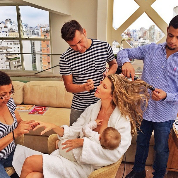 Gisele Bundchen Breastfeeds Vivian — And Shares a Photo of It!