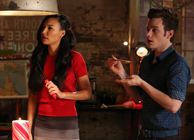 "Watch Glee's ""The Chipmunk Song"" — Shirtless Santa, Kurt, Rachel, and Santana!"