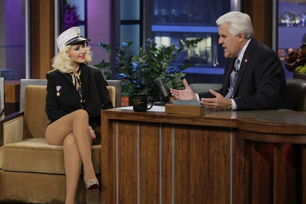 Christina Aguilera Honors the Troops in Sexy Sailor Outfit (PHOTO)