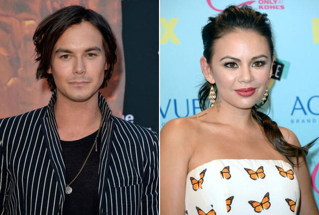 Pretty Little Liars Stars Tyler Blackburn and Janel Parrish Kiss and Tell! (VIDEO)