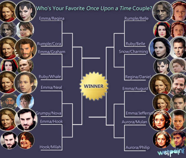 Once Upon a Time Ship Bracket: Vote for Your Favorite Couple! — Week 1