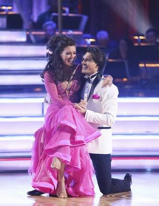 Lisa Vanderpump and Len Goodman Dance the Foxtrot on Dancing With the Stars Finale (VIDEO)
