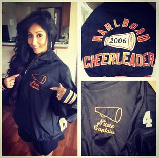 Snooki Rocks Old Cheerleading Jacket: High School Throwback! (PHOTO)