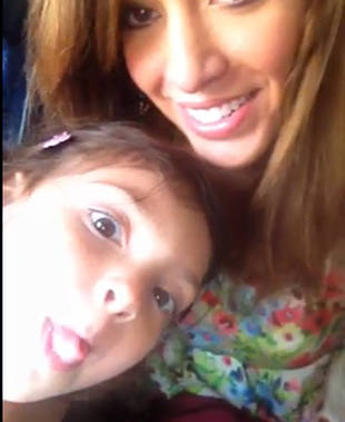 Farrah Abraham's Daughter Sophia Makes Funny Faces in New Keek (VIDEO)