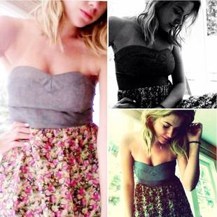 Pretty Little Liars Star Ashley Benson Flaunts Cleavage in Floral Summer Dress (PHOTO)