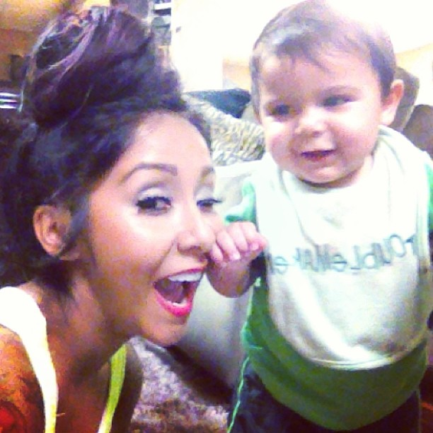 Is Snooki's Baby, Lorenzo, Standing on His Own? Adorable Alert! (PHOTO)