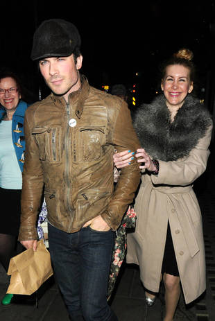 Who Was the Mystery Woman Holding Ian Somerhalder's Arm in London?