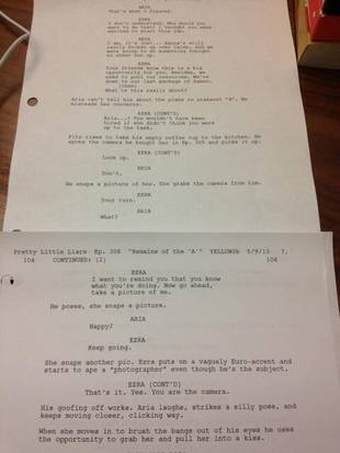 Pretty Little Liars Ezria Flashback: Check Out The Script From Season 3, Episode 6 (PHOTO)