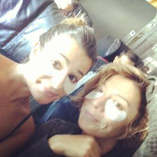 Lea Michele Posts Embarrassing Airplane Pic — What's On Her Face?