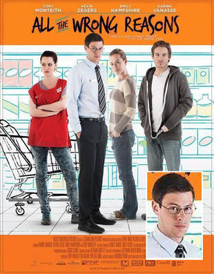 Glee's Cory Monteith Goes Nerdy: All the Wrong Reasons Movie Poster!