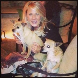 Makeup-Free Gretchen Rossi Cuddles With Her Adorable Pups!
