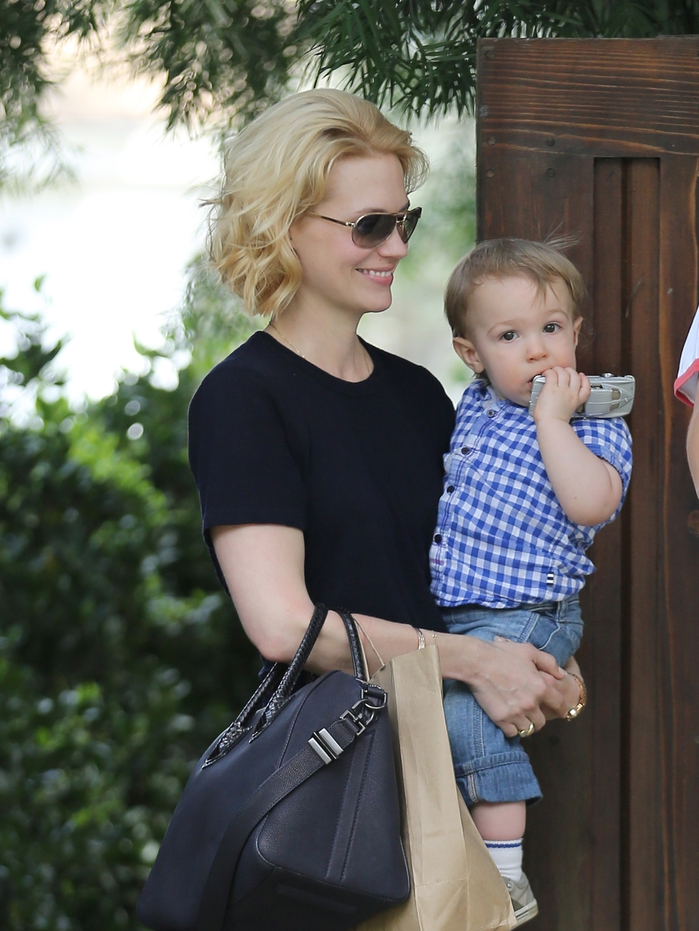 January Jones Says Her Baby Daddy's Identity Is 'My Son's Business'