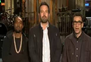 Kanye West Films SNL Promo With Band-Aid On His Head!