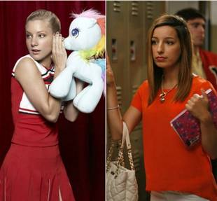 Makeup Free: Glee's Heather Morris and Vanessa Lengies (PHOTO)