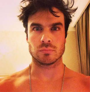 Shirtless Ian Somerhalder Posts Late-Night Photo From Russia