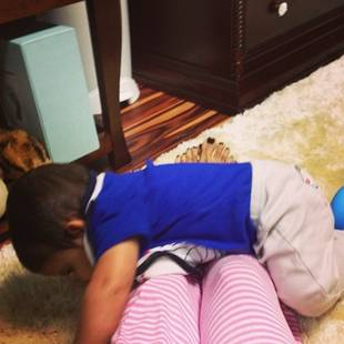 "Lorenzo Tackles an ""Obstacle Course"" — Adorable Alert! (PHOTO)"